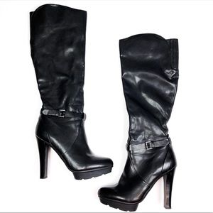 Guess | Black Knee High Sexy Heeled Boots